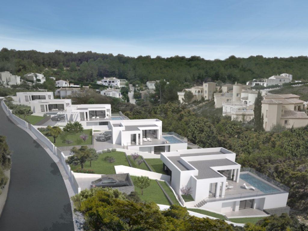 Les villas sont situées au coeur de la station résidentielle Cumbre del Sol|||||||||||