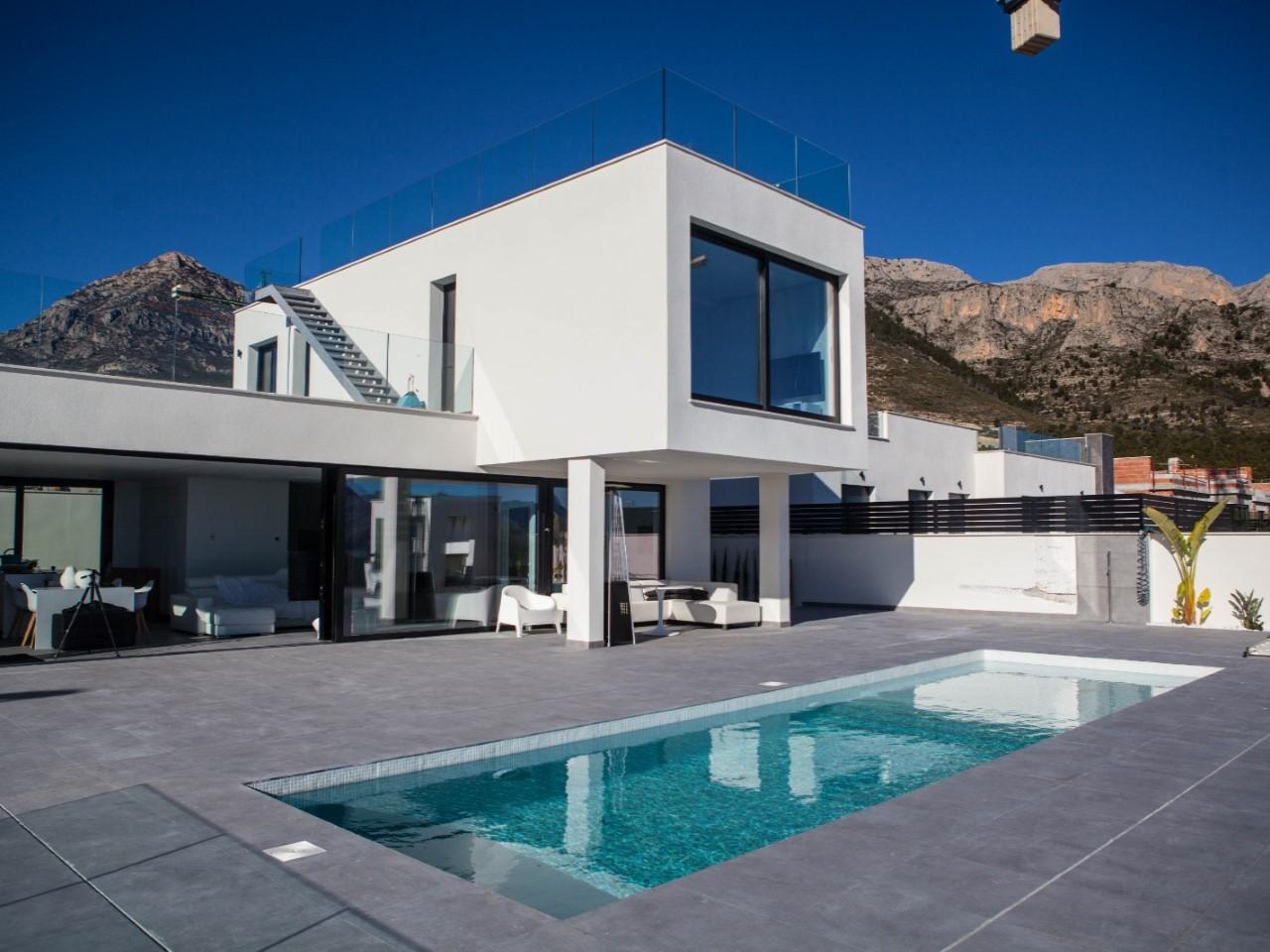 Villa moderne avec vue sur la mer région de Polop - Espagne
