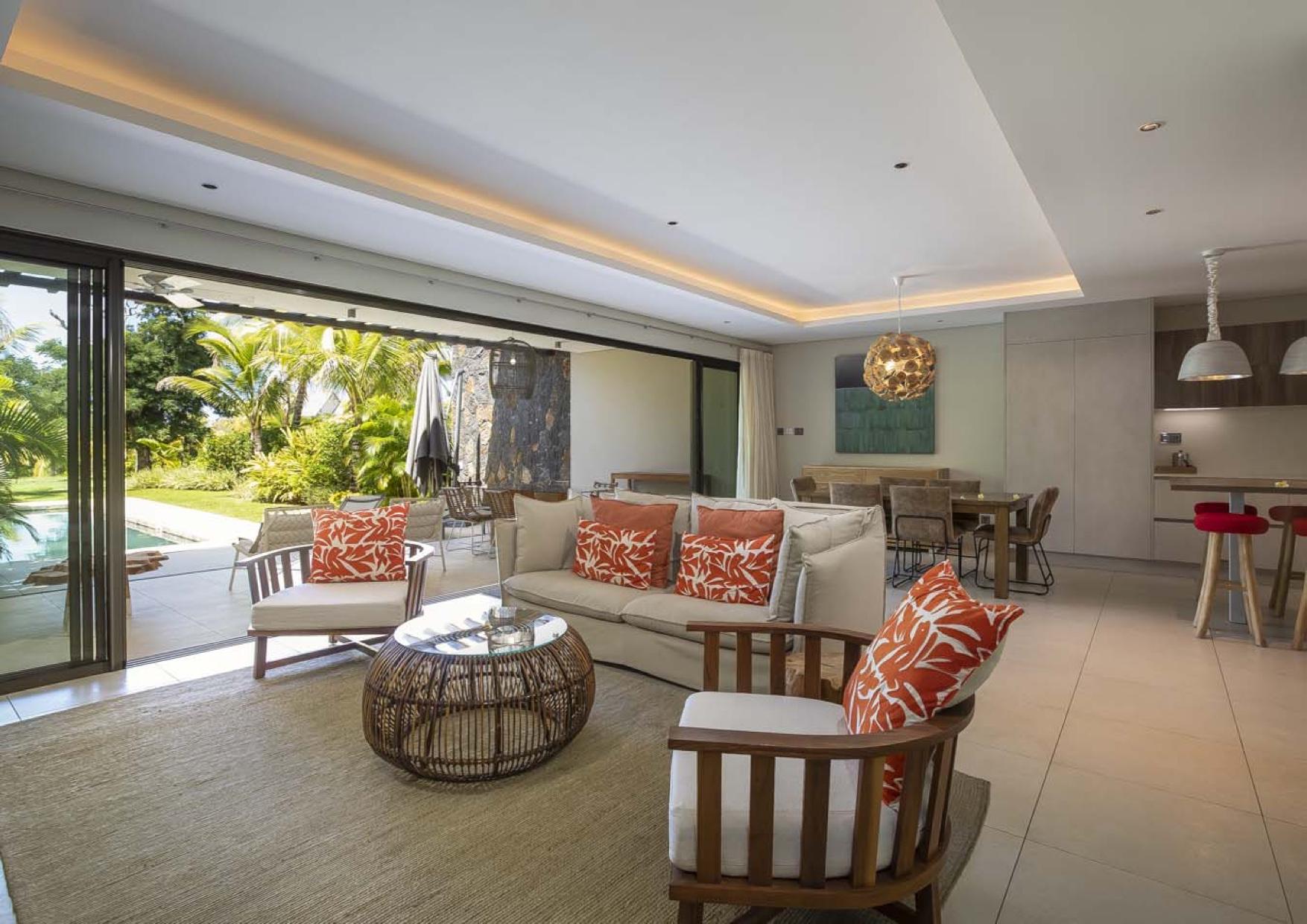 Villas de luxe avec Beach Club privé à l'Île Maurice.          