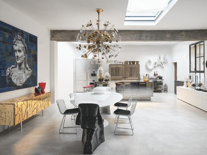 Atmosphères industrielles design contemporain Loft florentin