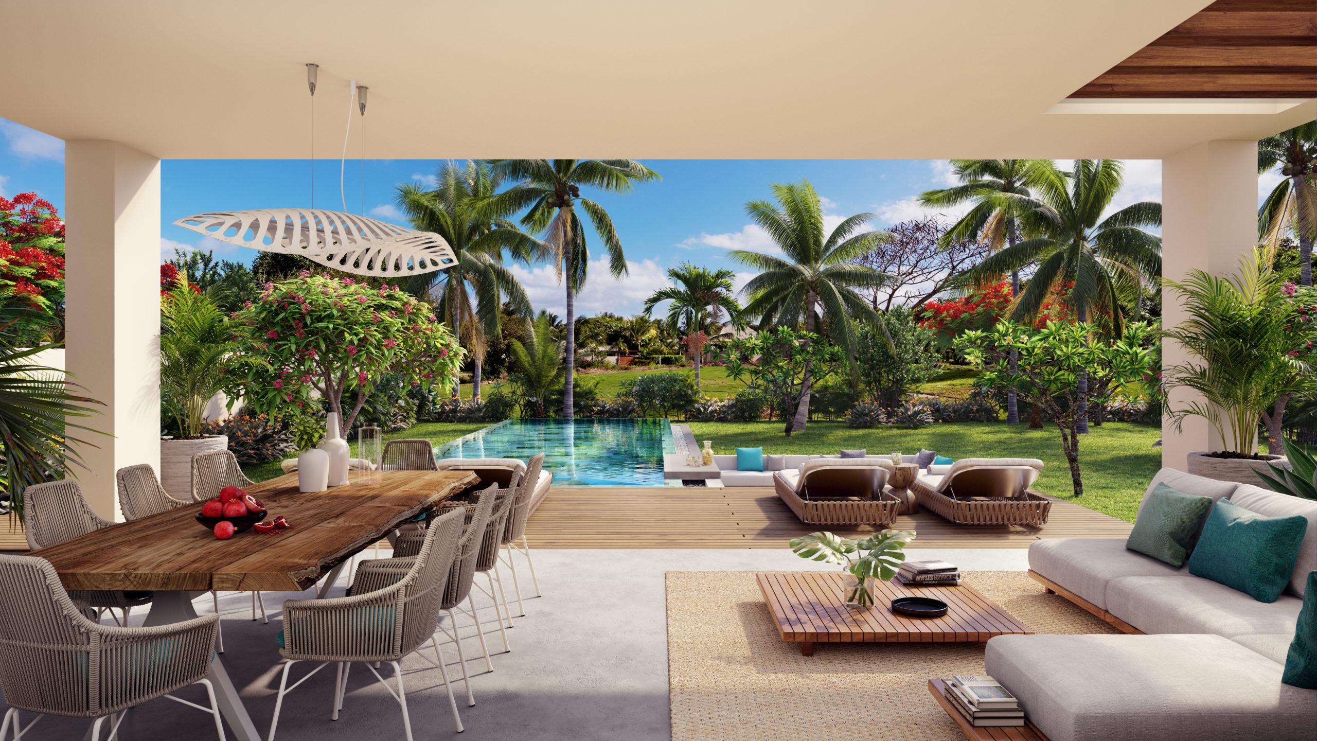 Villas jumelées style contemporains vues sur le parcours de golf