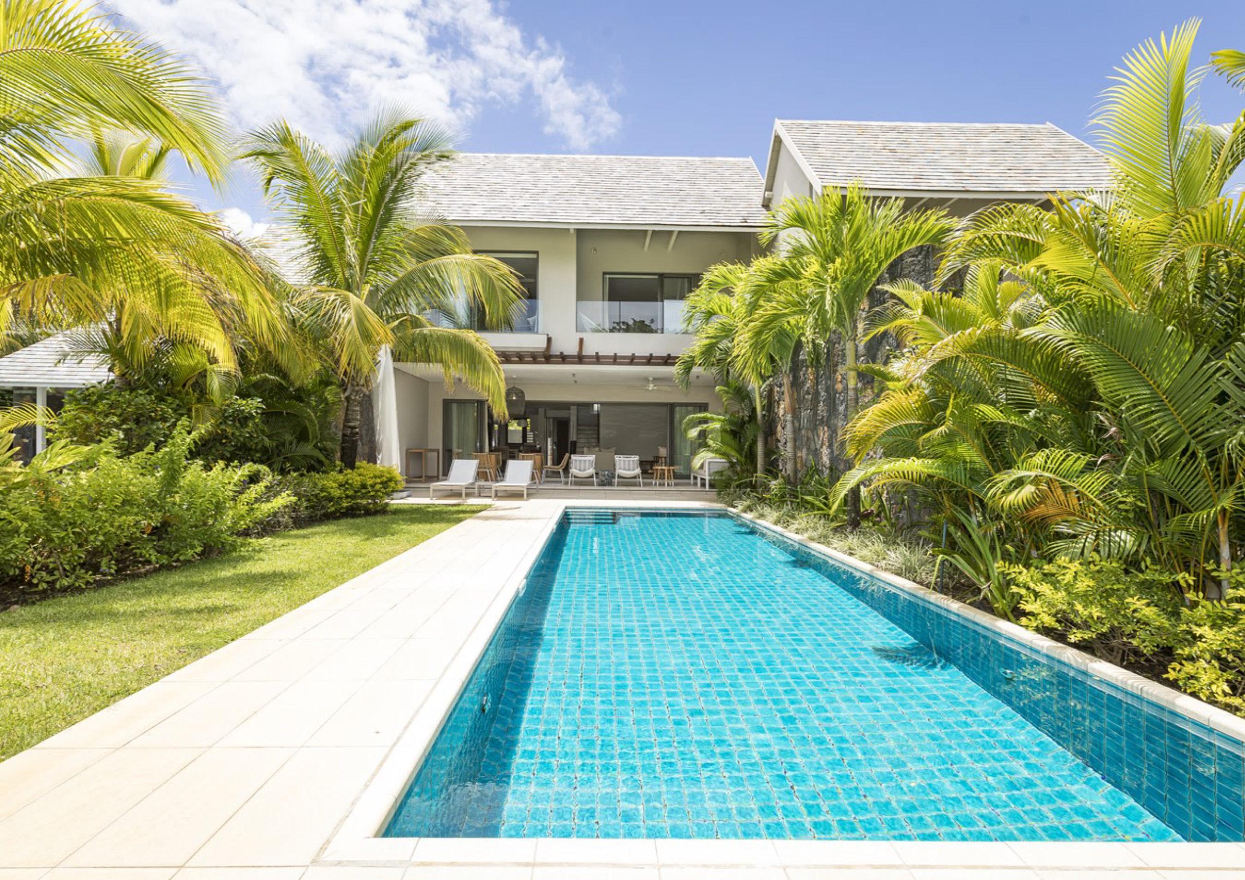 Villa jumelée IRS 3 chambres à vendre - Vue sur le golf et la mer - île Maurice