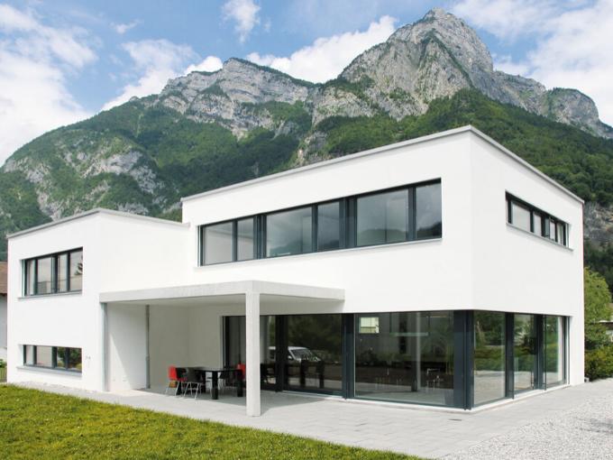 Deux cubes décalés donnent une élégance à cette maison individuelle