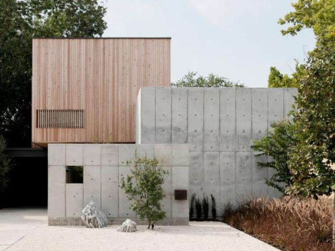 Une maison de style japonais émerge au milieu du Texas