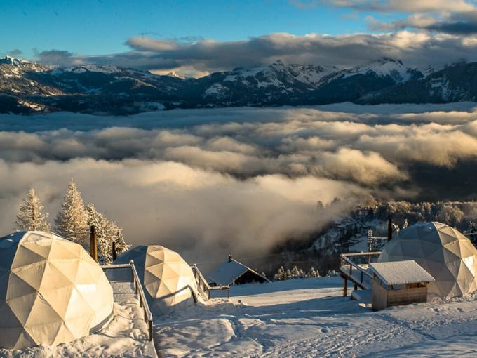 Whitepod hotel & restaurant Eco-luxury hotel Valais, Switzerland