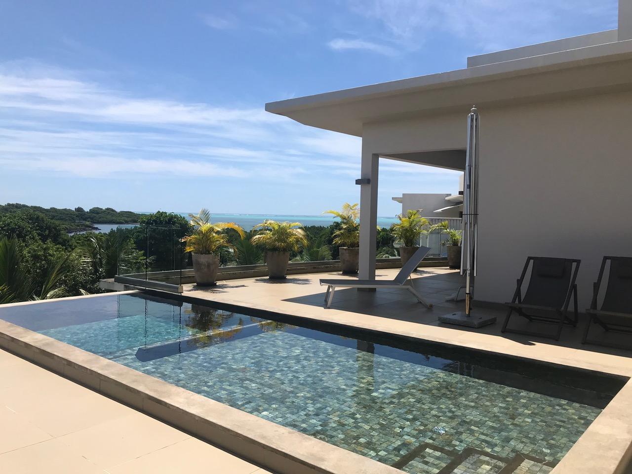 Roche Noires - somptueux penthouse de 514 m² vue mer et les mangroves - Île Maurice