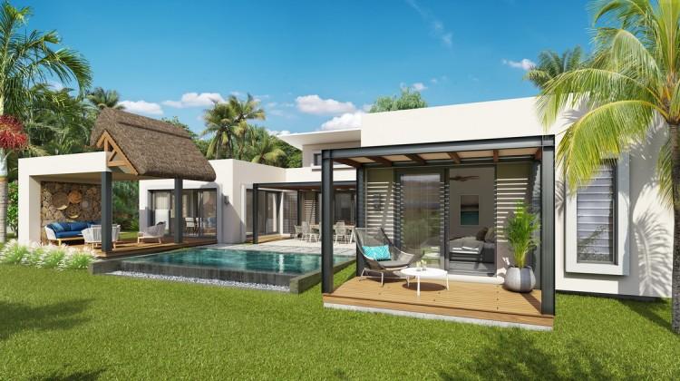 villas de haut standing et bénéficie d'un emplacement privilégié dans le village de Trou aux Biches, à 100 mètres de la plage