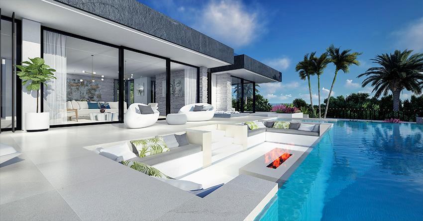Villa sur plan de 4 chambres avec vue sur la mer sur la Costa del Sol Benahavis Villa sur plan de 4 chambres avec vue sur la mer sur la Costa del Sol Benahavis     