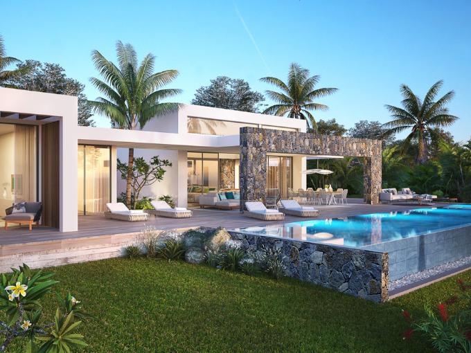 villa de luxe, sur un terrain en pleine propriété Anahita Mauritius