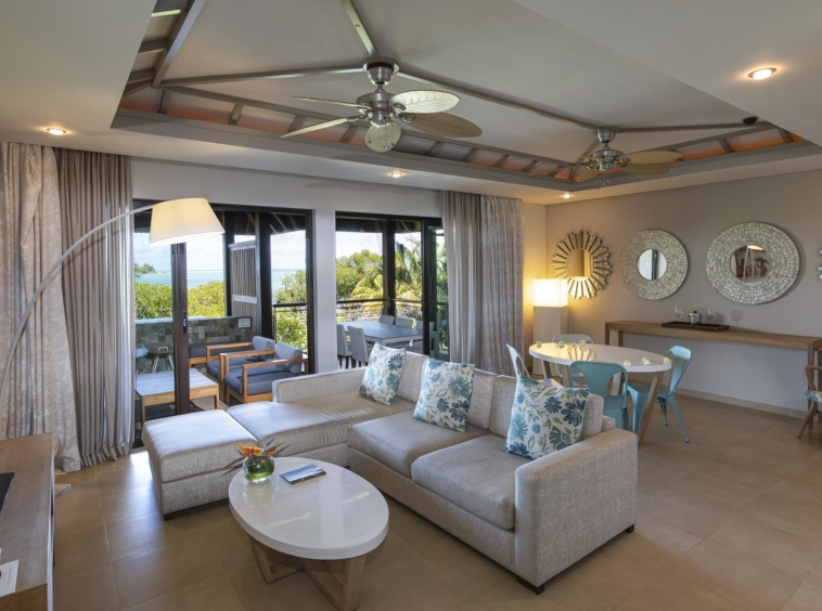 Appartement- Vue mer- 2 Chambres, situé au premier étage- l'adamante- île Maurice