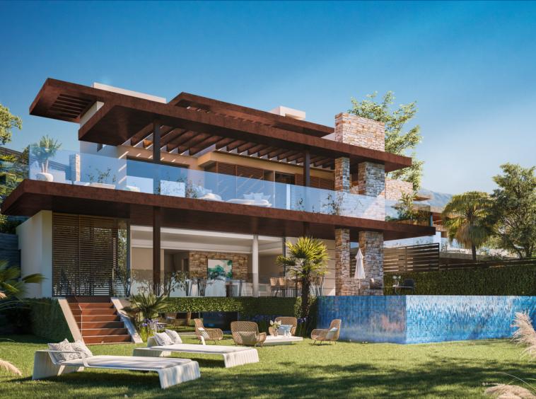 Villa à Benahavis avec jardins potager et vues sur la Mer méditerranée