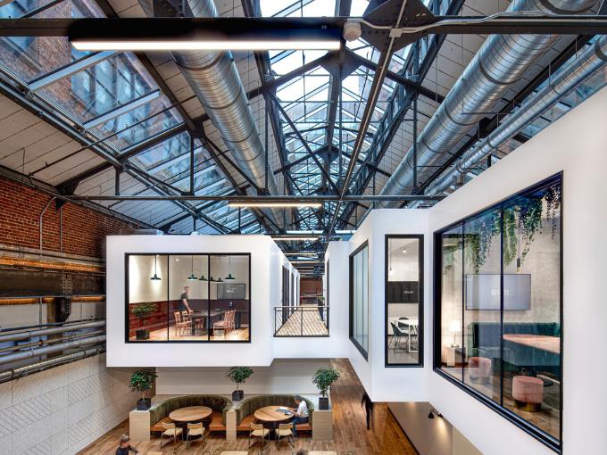 La conception de l'espace de bureau © Linebox Studio Inc