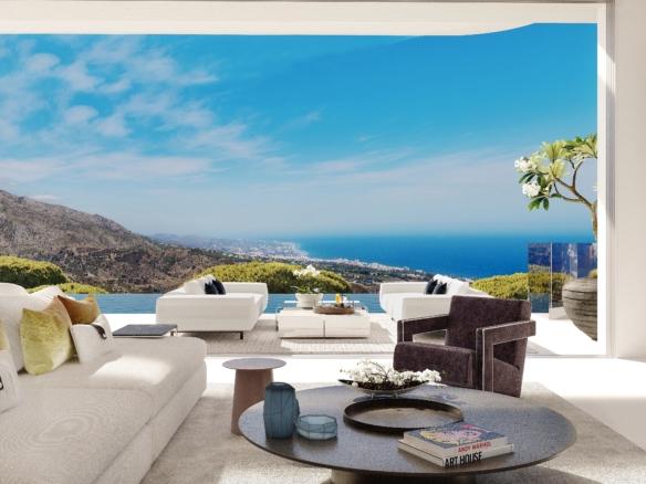 Villas de luxe surplombant Marbella et la mer Méditerranée - Espagne