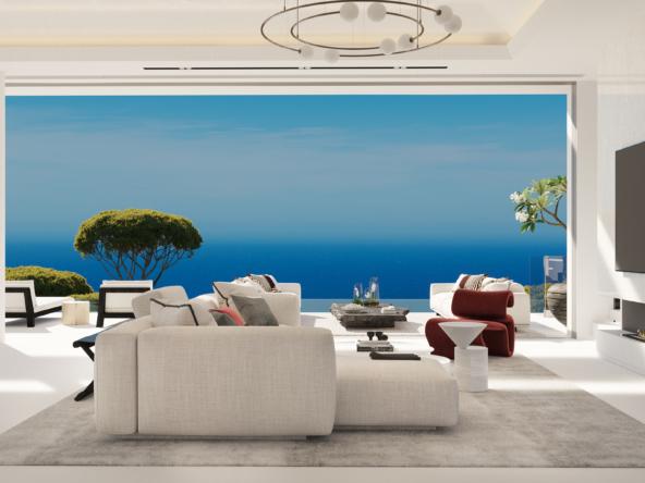 18 villas vues exceptionnelles sur la Méditerranée jusqu'à Gibraltar et l'Afrique