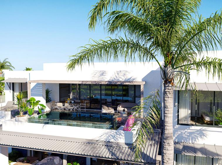 Devenez propriétaire d'un bien immobilier de belle valeur au cœur d'un village balnéaire entre mer et golf, dans l'une des plus belles régions de l'île.