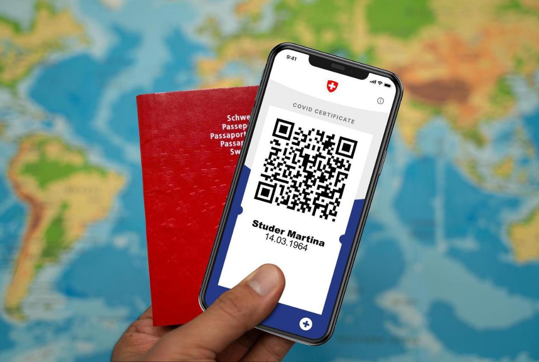 CertificatCOVID, électronique ou imprimé, sous forme de codeQR. Suisse