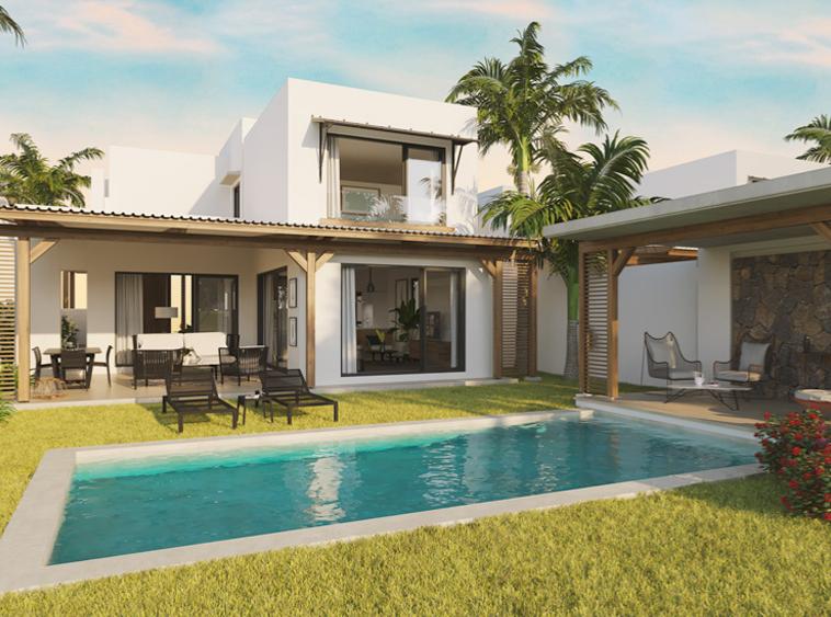 VILLAS ENNÉA 3 CHAMBRES TYPE B Azuri île Maurice immobilier-swiss.ch