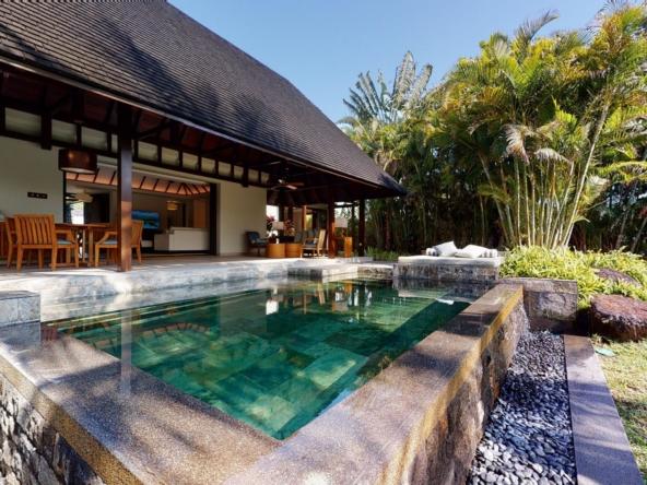 Villa à l'île Maurice 2 chambres décorée dans un style tropical chic